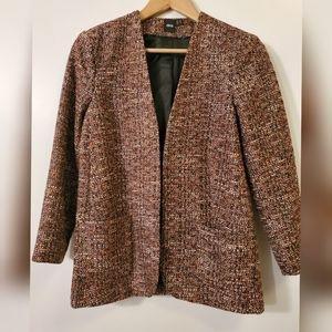 ASOS orange tweed blazer